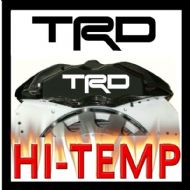 TRD STRAIGHT HIGH TEMPERATURE BRAKE CALIPER DECAL SET
